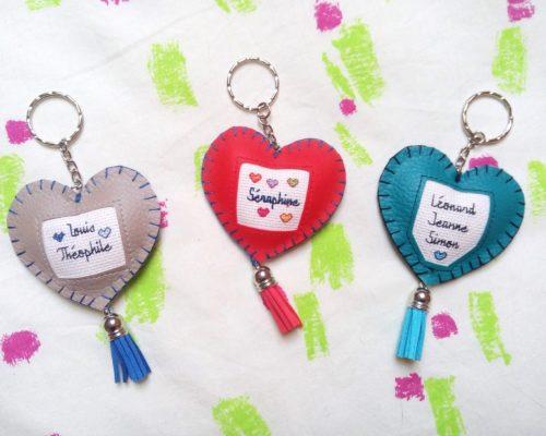 Porte-clés prénoms enfants